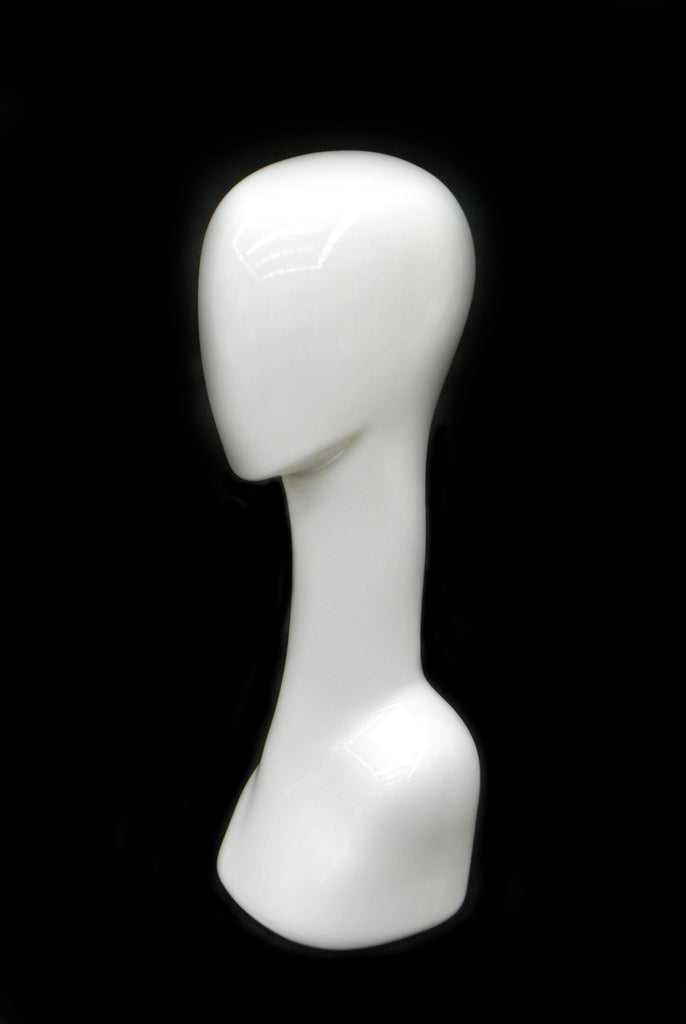 Abstract Female Mannequin Head in White #2