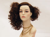 Female Wig: Long, Brown, Curly