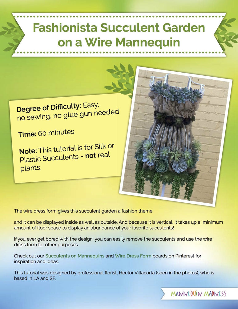 EBook Tutorial: Faux Succulents on a Dress Form
