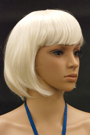 Female Wig: Short Platinum Pageboy