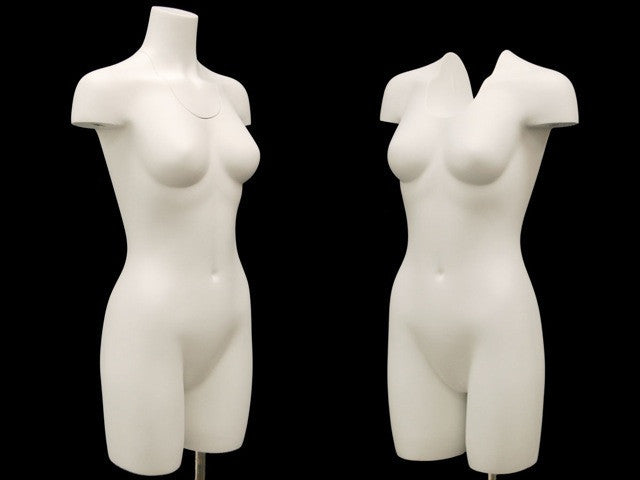 Female Ghost Torso Mannequin with Partial Leg