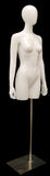 Egghead Female 3/4 Torso wsith Arms -- Glossy White