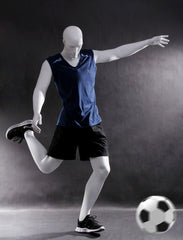 Sports: Male Mannequin in Soccer/Football Pose -- Matte White
