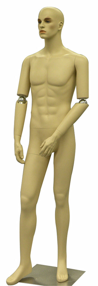 Realistic Male Mannequin with Bendable Arms #2