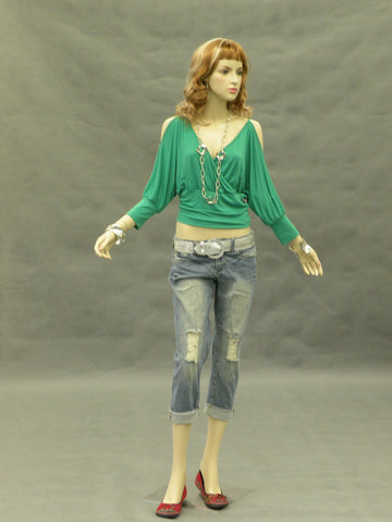 Female Mannequin with Bendable Arms - Facing Sideways