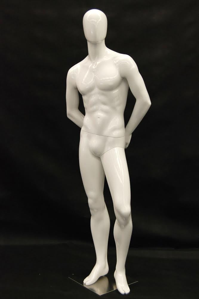 Matthew: Egghead Male Mannequin in Glossy or Matte White