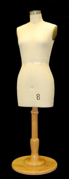 Half Scale Female Dress Form: Size 8 Deluxe Version