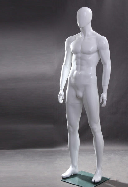 Lyle 1: Egghead Male Mannequin in Glossy White