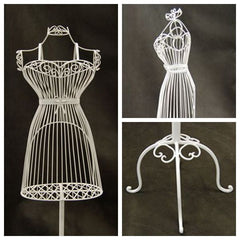 Female Wire Dress Form Mannequin  #1 - White