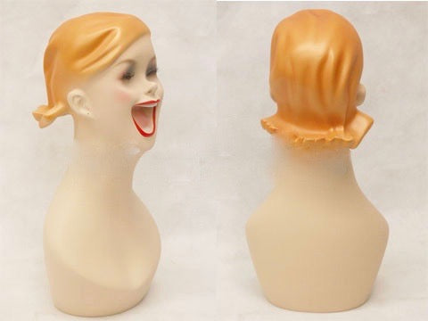 Big Smile Style Mannequin Head: Vicky