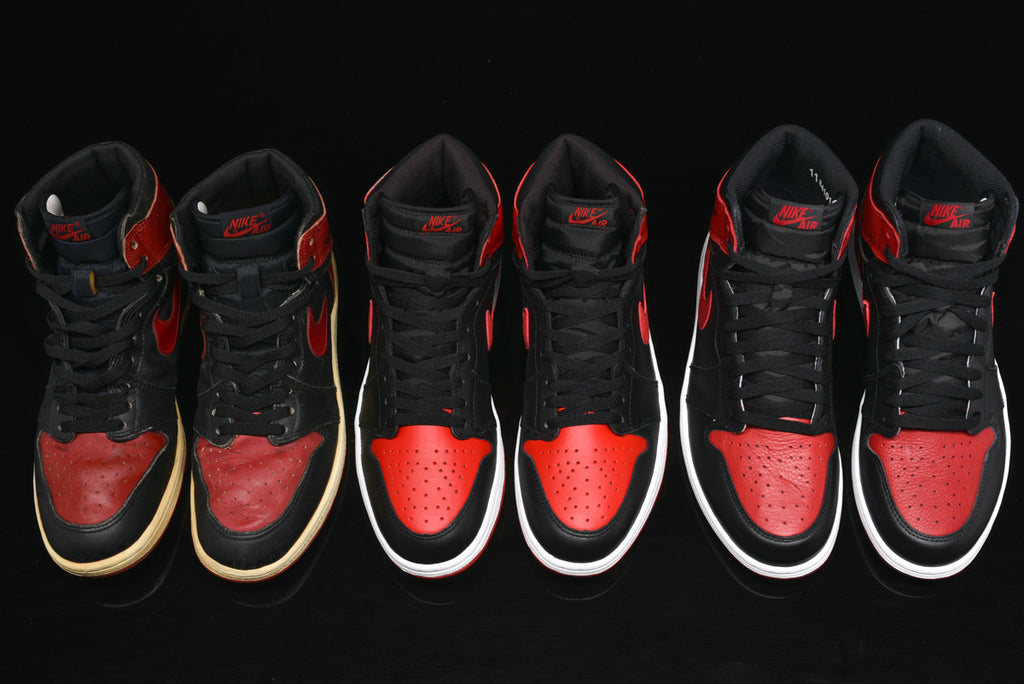 san francisco 42817 c3da5 AIR JORDAN 1 BRED THROUGH THE YEARS: 1985 VS. 2001 VS. 2016 ...