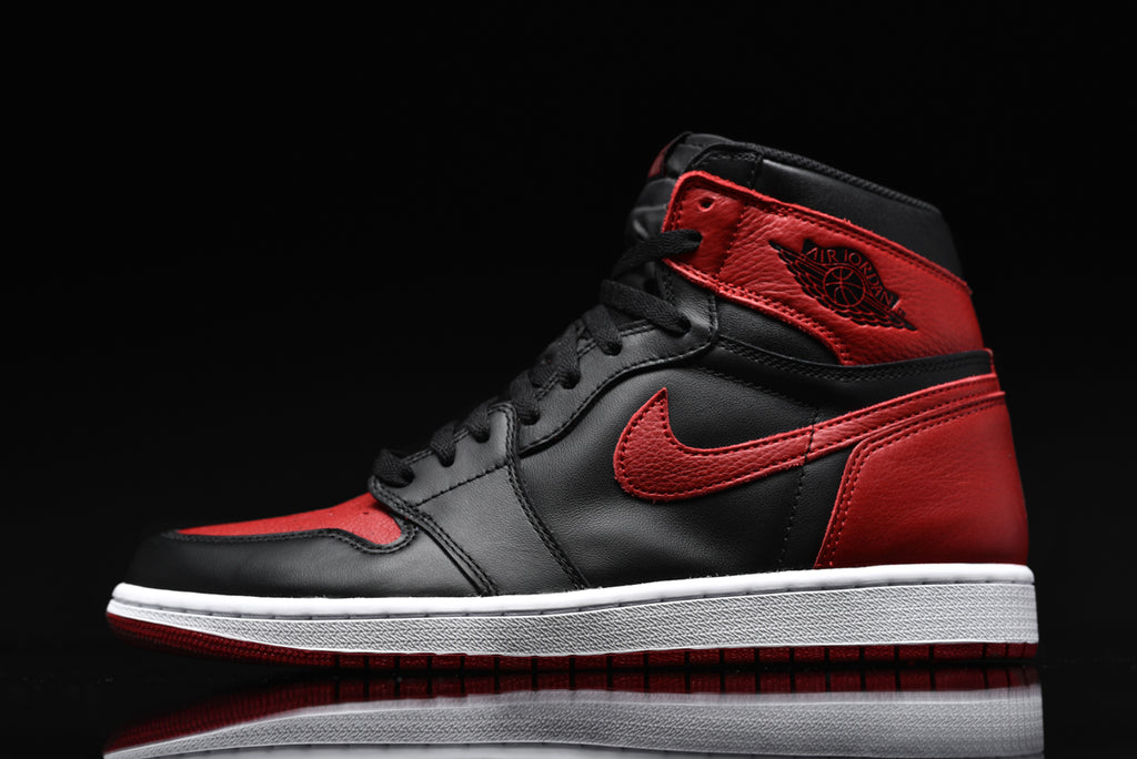 AIR JORDAN 1 BRED THROUGH THE YEARS  1985 VS. 2001 VS. 2016  57c804fdf