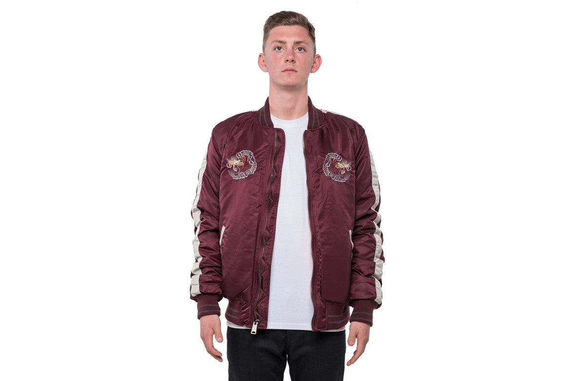 Men`s Nylon Tour Jacket - BURGUNDY