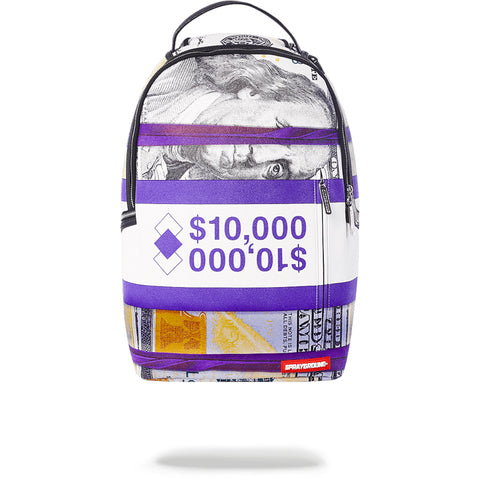 PURPLE MONEY BANDS BACKPACK - PURPLE