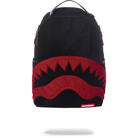 VILLAIN RUBBER SHARK BACKPACK - BLACK/RED