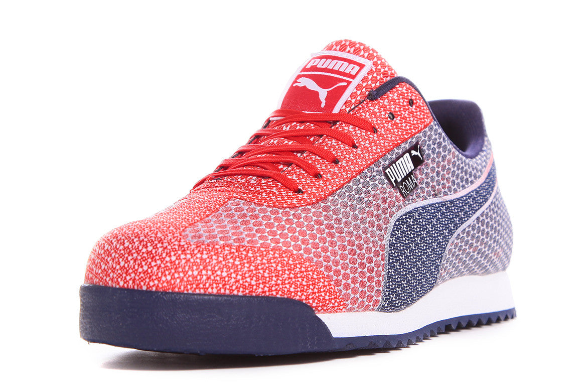 PUMA ROMA WOVEN MESH - HIGH RISK RED/PEACOAT/WHITE
