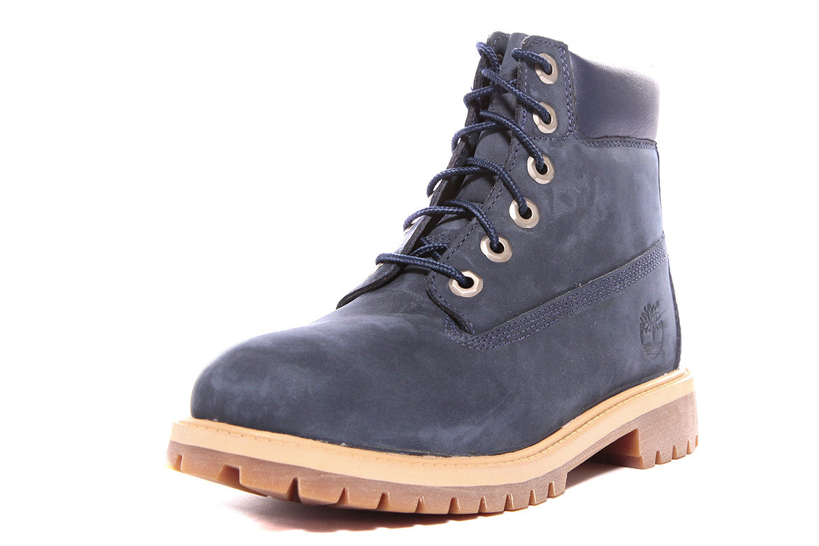 WATERPROOF 6 INCH PREMIUM BOOT (JUNIOR) - NAVY