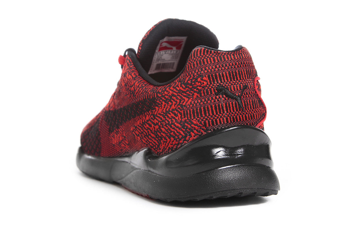 PUMA XS500 WOVEN - HIGH RISK RED/BLACK