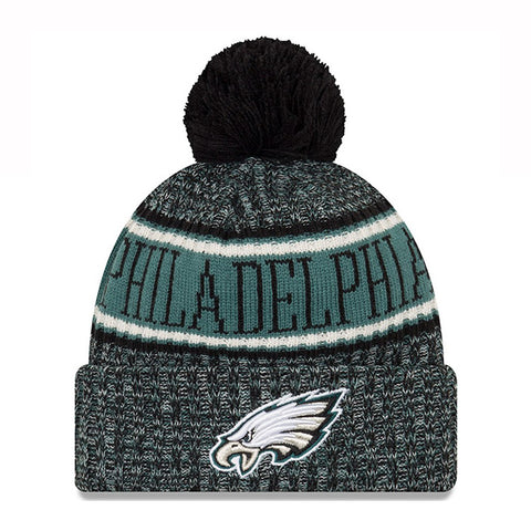 PHILADELPHIA EAGLES 2018 NFL SIDELINE OFFICIAL KNIT HAT - GREEN