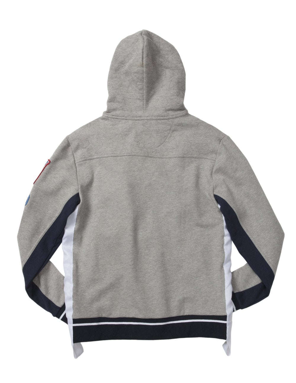 SHORT TRACK HOODIE - HEATHER GREY