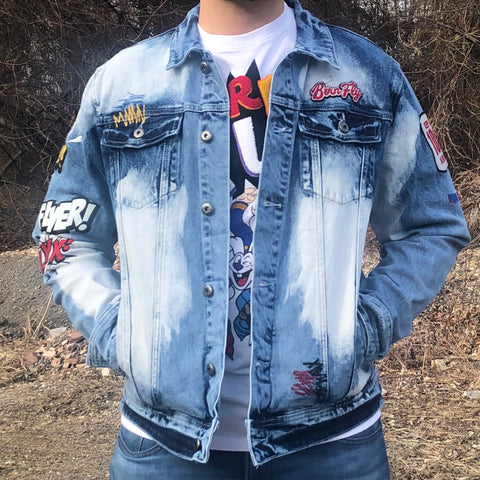 KEEP IT 100 DENIM JACKET - ACID WASH