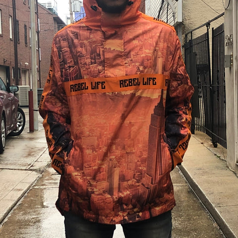 SKYLINE WINDBREAKER - ORANGE