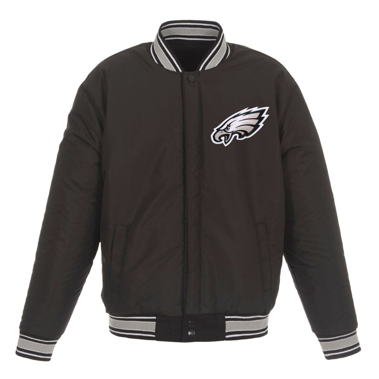 HEAVY WEIGHT REVERSIBLE WOOL JACKET - EAGLES