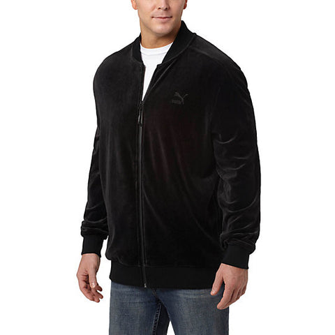 VELOUR T7  JACKET - BLACK