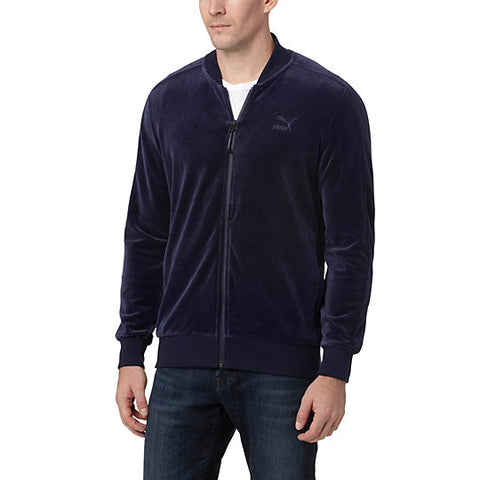VELOUR T7  JACKET - NAVY
