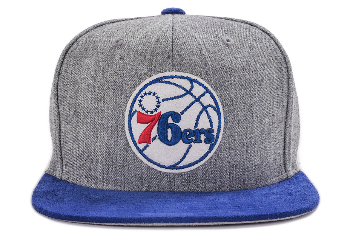 HEATHER MICRO SNAPBACK HAT - 76ERS