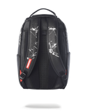 BROKEN GLASS SHARK BACKPACK - BLACK