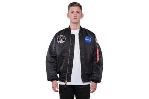 APOLLO MA-1 FLIGHT JACKET - BLACK