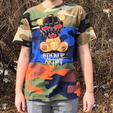 STICKUP ARTIST TEE - CUT AND SEW CAMO