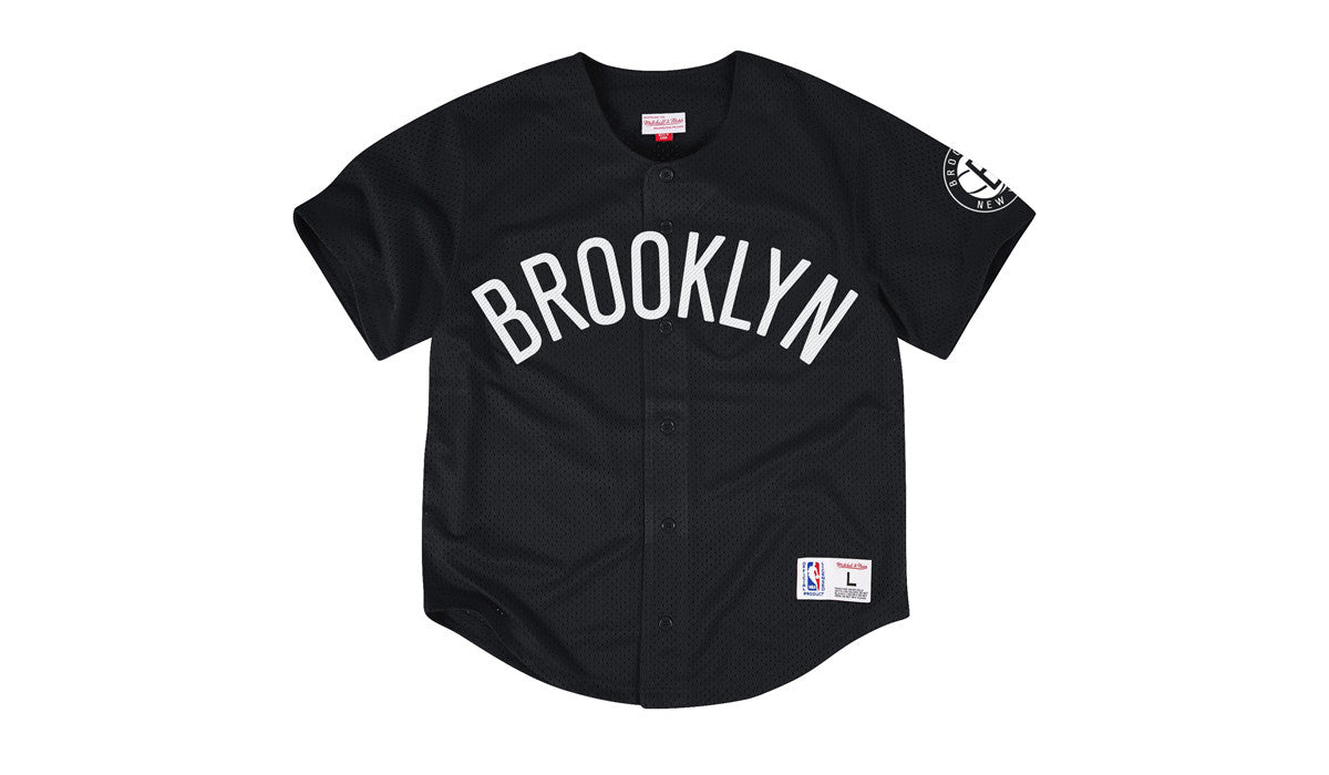 NBA MESH BUTTON FRONT JERSEY - NETS