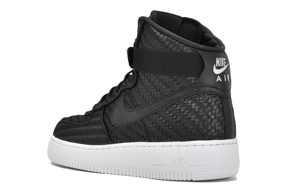 AIR FORCE 1 HIGH '07 LV8 WOVEN - BLACK / WHITE