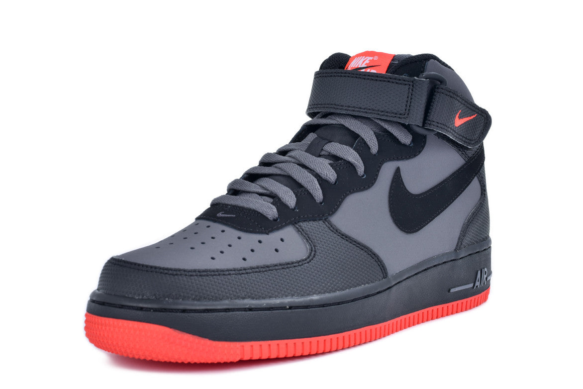 AIR FORCE 1 MID '07 - DARK GREY / CRIMSON