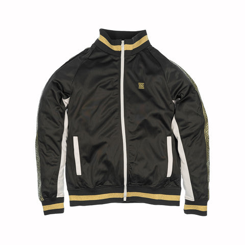 GOLD TAPE TRACK JACKET -  BLACK