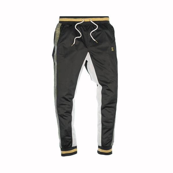 GOLD TAPE TRACK PANTS - BLACK