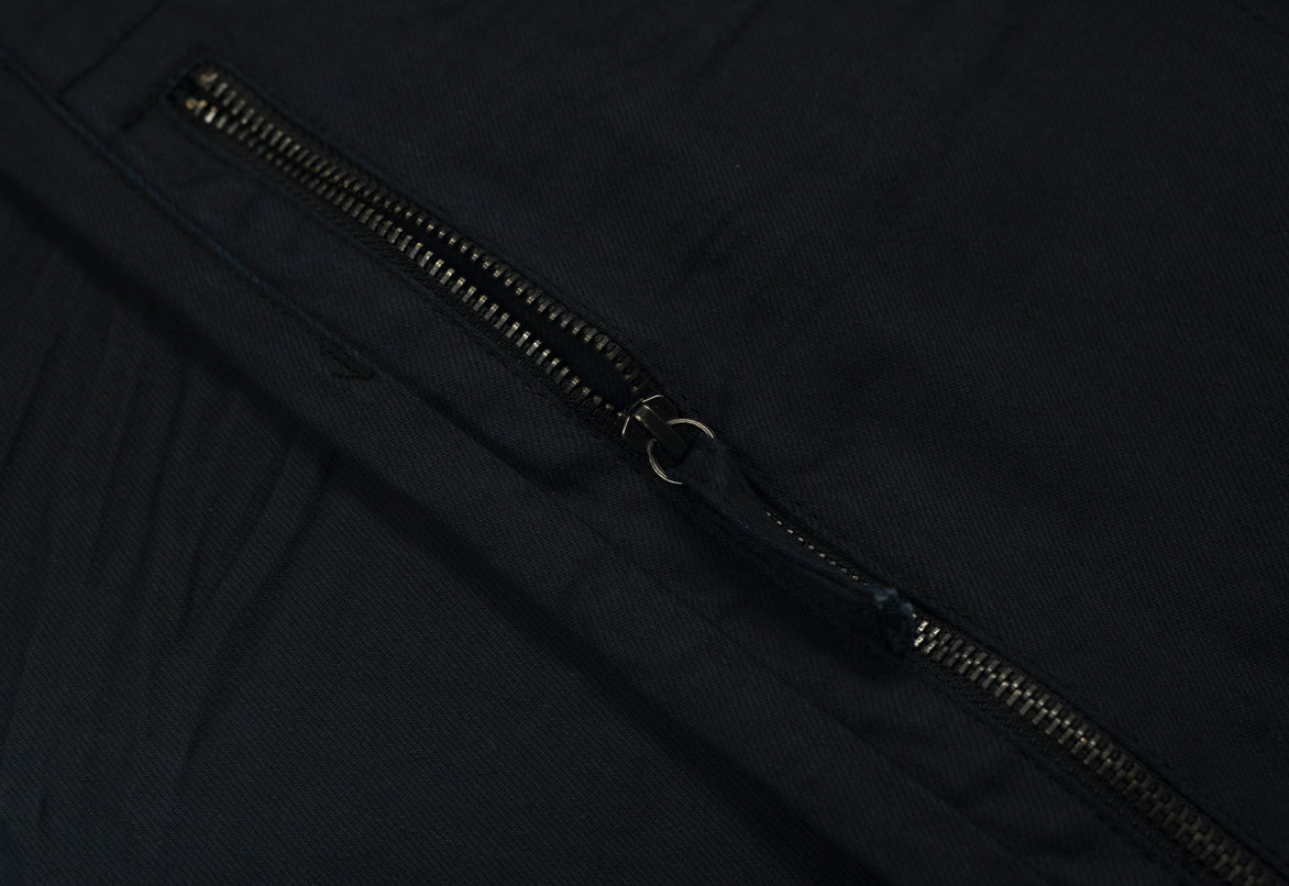 STRAIGHT ZIPPER JEANS - DEEP NAVY
