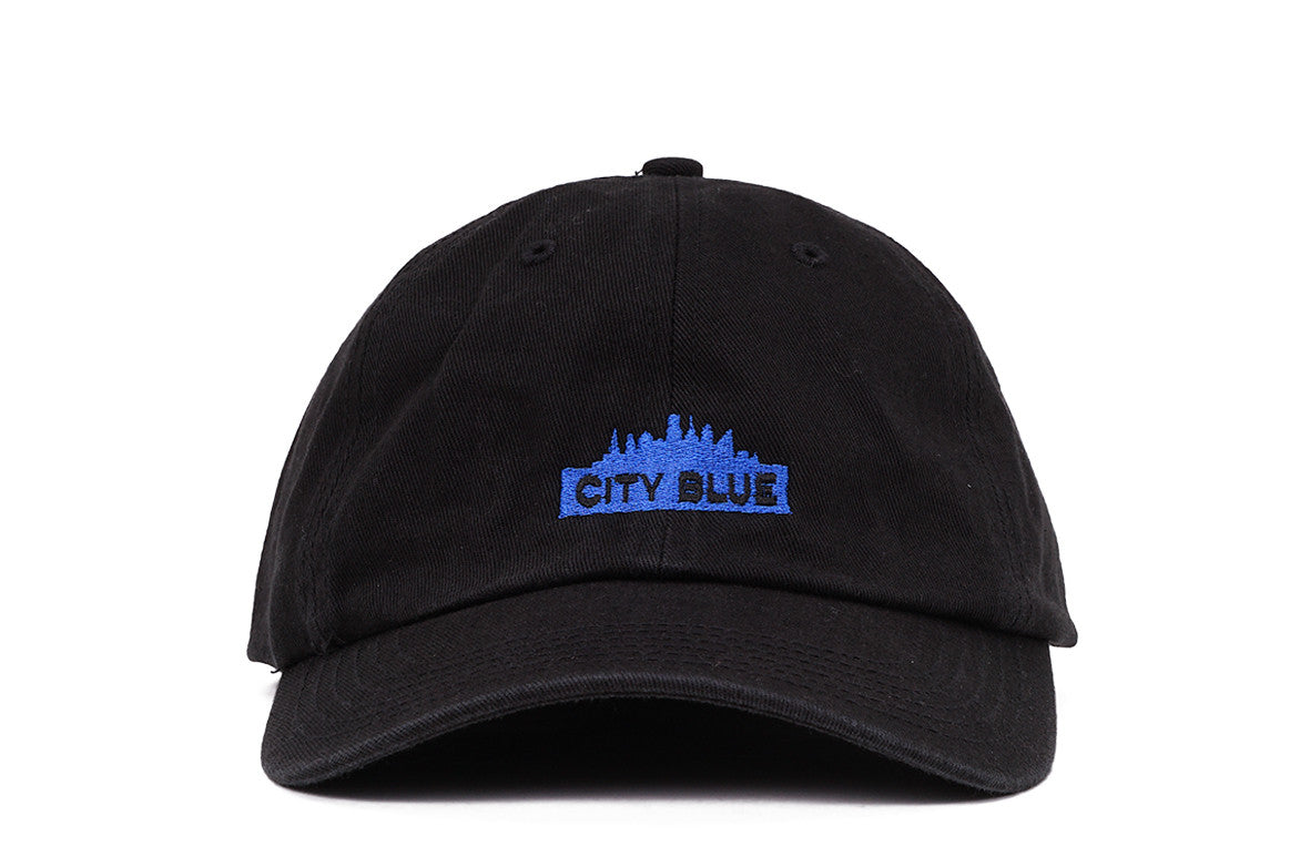 CITY BLUE LOGO DAD HAT - BLACK