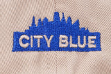 CITY BLUE LOGO DAD HAT - TAN