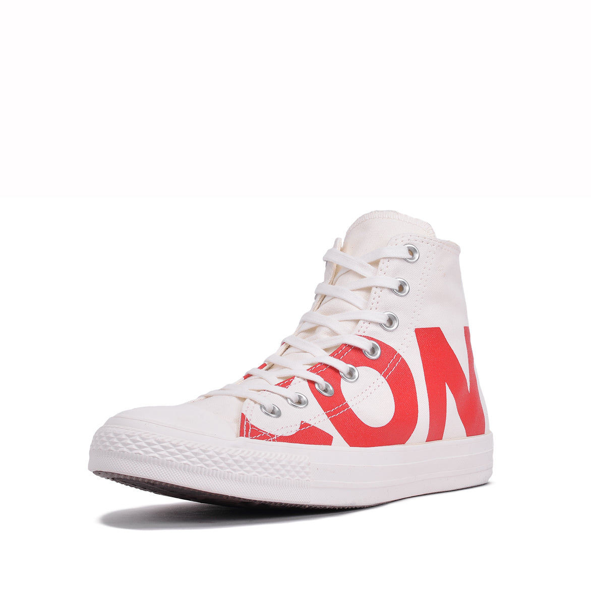 "CHUCK TAYLOR ALL STAR HI ""WORDMARK"" - NATURAL / RED"