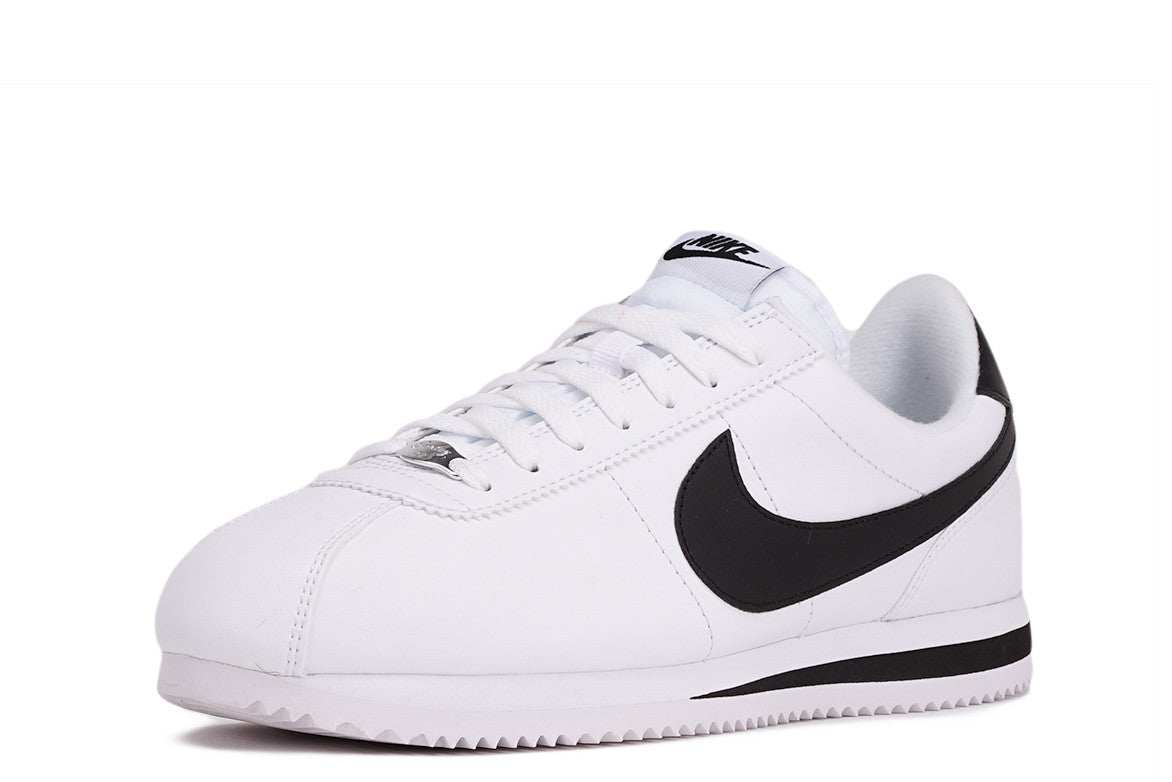 CORTEZ BASIC LEATHER - WHITE / BLACK