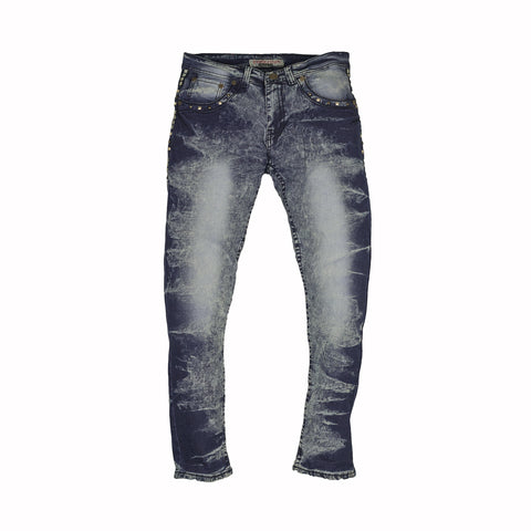 STONE WASHED SKINNY JEANS - LIGHT BLUE