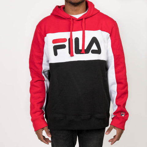 TODD HOODIE - RED / WHITE / BLACK