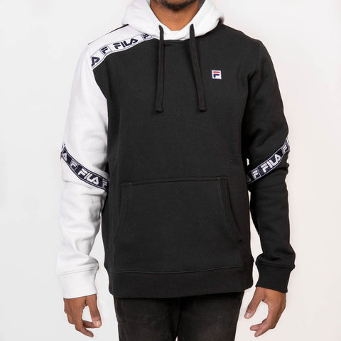 TAG FLEECE HOODIE - BLACK / WHITE