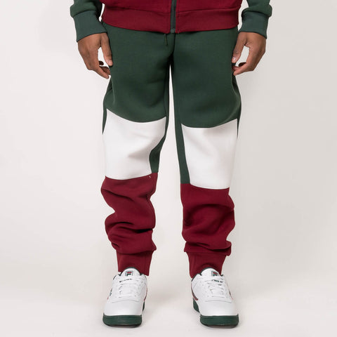 JUDE PANTS - SYCAMORE / WHITE / RED