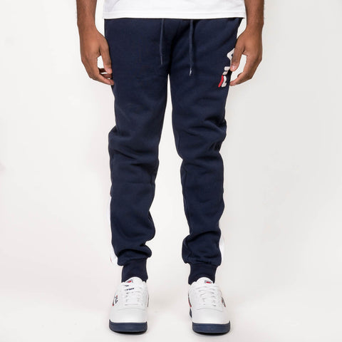 CALLUM FLEECE PANT - NAVY / RED / WHITE