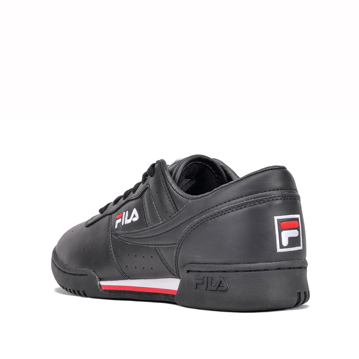 ORIGINAL FITNESS LEATHER - BLACK/WHITE/RED