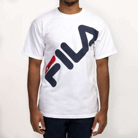 MICAH TEE - WHITE / NAVY / RED